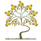Fondo con un árbol Stock de ilustración