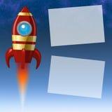 Fondo con un cohete Foto de archivo libre de regalías