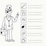 Fondo con un doctor que da directorios Imagenes de archivo