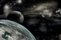 Fondo con un planeta Fotografía de archivo libre de regalías