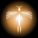 Fondo con un ser humano cósmico luminoso stock de ilustración