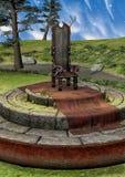 Fondo con un trono di fantasia Immagine Stock
