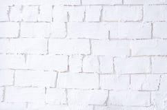 Fondo con una pared de ladrillo brillante blanca imágenes de archivo libres de regalías