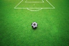 Fondo conceptual del tiro libre del fútbol Foto de archivo