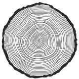 Fondo concettuale di vettore con gli albero-anelli Immagini Stock Libere da Diritti