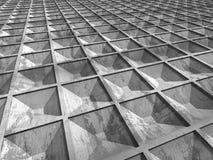 Fondo concreto astratto della costruzione di architettura Fotografie Stock