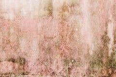 Fondo concreto de la textura del viejo grunge rosado Fotografía de archivo