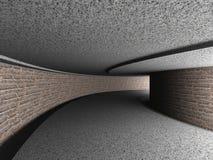 Fondo concreto de Tonnel de la arquitectura del ladrillo abstracto Foto de archivo