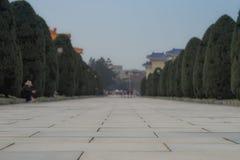 Fondo concreto del passaggio pedonale del parco in Taiwan immagine stock