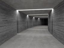 Fondo concreto del túnel