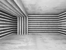 Fondo concreto di architettura di Darck Costruzione di Geomewtric Immagine Stock
