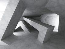 Fondo concreto di architettura di Darck Geomewtric Const caotico Fotografia Stock Libera da Diritti