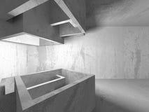 Fondo concreto geometrico astratto di architettura Fotografia Stock Libera da Diritti