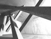 Fondo concreto geometrico astratto di architettura Immagini Stock Libere da Diritti