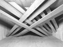 Fondo concreto geometrico astratto di architettura illustrazione di stock