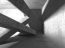 Fondo concreto geometrico astratto di architettura Fotografie Stock Libere da Diritti