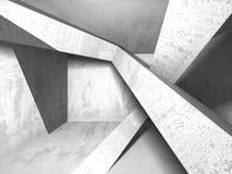 Fondo concreto geometrico astratto di architettura Immagini Stock