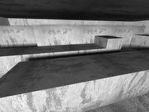 Fondo concreto geometrico astratto di architettura Immagine Stock