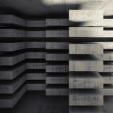 Fondo concreto moderno 3d di architettura Immagine Stock Libera da Diritti
