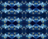 fondo conectado artístico generado por ordenador de las ilustraciones del modelo de los fractales del extracto moderno brillante  ilustración del vector