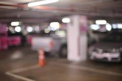 Fondo confuso astratto dei parcheggi nel centro commerciale fotografia stock libera da diritti