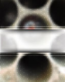 Fondo confuso metallico realistico di vettore illustrazione di stock