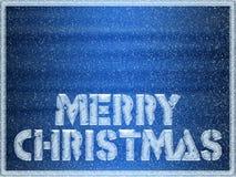 Fondo congelado de la Feliz Navidad Foto de archivo