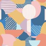 Fondo contemporaneo d'avanguardia della geometria Modello senza cuciture di forme geometriche moderne royalty illustrazione gratis