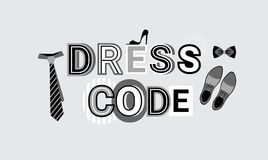 Fondo convenzionale del modello dell'estratto dell'insegna di web del segno di codice di abbigliamento illustrazione di stock