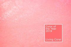 Fondo coralino con brillo foto de archivo