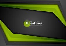 Fondo corporativo abstracto negro y verde del contraste Fotografía de archivo libre de regalías