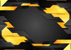 Fondo corporativo geométrico de la tecnología abstracta Foto de archivo libre de regalías