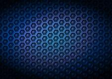 Fondo corporativo industriral geometrico del modello di vettore della marina blu fatto degli elementi impressi della palla e di e Immagine Stock