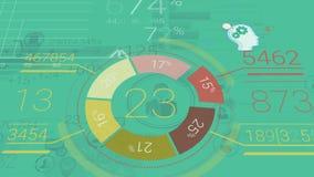 Fondo corporativo verde con los elementos abstractos de Infographics