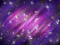 Fondo cosmico blu astratto con le stelle illustrazione vettoriale