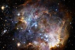 Fondo cosmico della galassia con le nebulose, lo stardust e le stelle luminose royalty illustrazione gratis