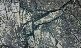 Fondo costiero della roccia Fotografie Stock
