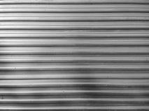 Fondo costolato della superficie di metallo Immagini Stock Libere da Diritti