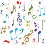 Fondo creado de notas de la música Imágenes de archivo libres de regalías