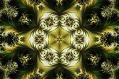 Fondo creativo abstracto con la estrella creada de fractales libre illustration