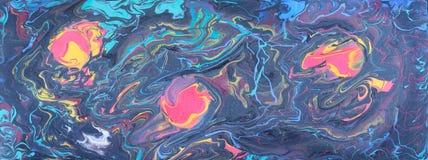 Fondo creativo abstracto con los puntos tricolores en líneas de color libre illustration