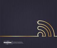 Fondo creativo abstracto del vector del concepto Para el web y las aplicaciones móviles, diseño de la plantilla del ejemplo, nego stock de ilustración