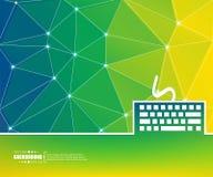 Fondo creativo astratto di vettore di concetto Per le applicazioni del cellulare e di web, progettazione del modello dell'illustr Immagine Stock Libera da Diritti