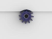 Fondo creativo concettuale di bianco dell'ingranaggio Fotografia Stock