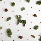 Fondo creativo de la Navidad Fotos de archivo