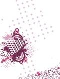 Fondo creativo de la tarjeta del día de San Valentín Foto de archivo libre de regalías