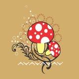 Fondo creativo dei funghi di schema di campionamento royalty illustrazione gratis