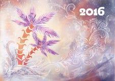 Fondo creativo del Año Nuevo Foto de archivo libre de regalías