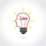 Fondo creativo del concepto de la idea de la bombilla Fotografía de archivo libre de regalías
