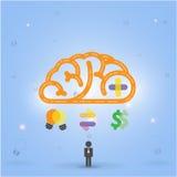 Fondo creativo del concepto de la idea del cerebro Fotografía de archivo libre de regalías
